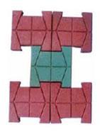 Gạch lát sàn hình chữ H