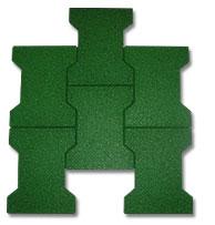 Gạch cao su hình chữ T